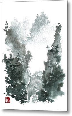 Chinese Landscape -mistyvalley Metal Print by Sean Seal