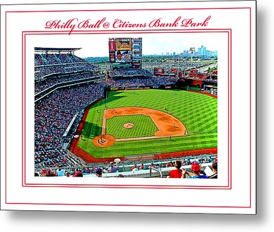 Citizens Bank Park Phillies Baseball Poster Image Metal Print by A Gurmankin