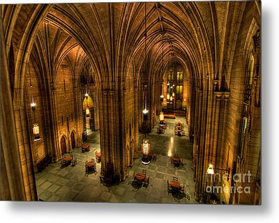 Commons Room Cathedral Of Learning University Of Pittsburgh Metal Print by Amy Cicconi