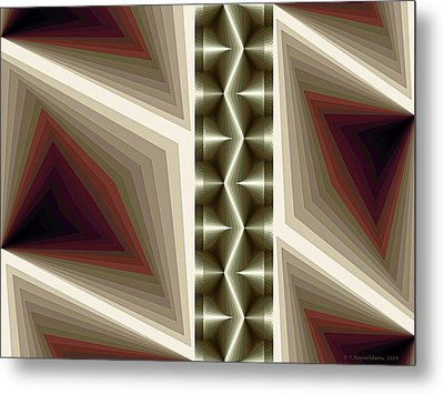 Composition 235 Metal Print by Terry Reynoldson