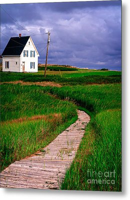 Cottage Among The Dunes Metal Print by Edward Fielding