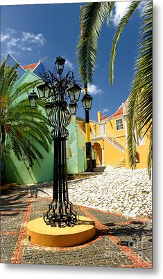 Curacao Colorful Architecture Metal Print by Amy Cicconi