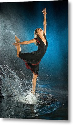 Dancing In The Rain Metal Print by Adam Chilson