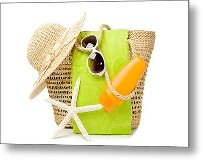 Day At The Beach Metal Print by Amanda Elwell