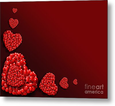 Decoration Of Heart Shaped Hearts Metal Print by Kiril Stanchev