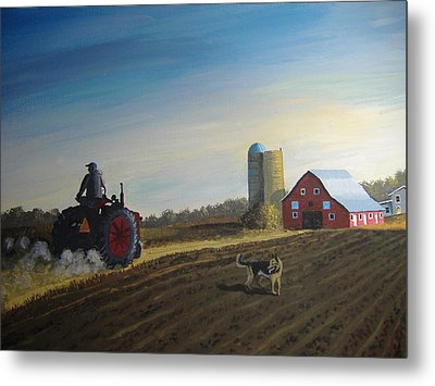 Done For The Day Metal Print by Norm Starks