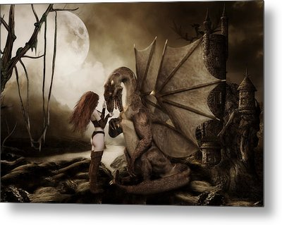 Dragon Whispers  Metal Print by Shanina Conway