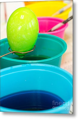 Dying Easter Eggs Metal Print by Edward Fielding
