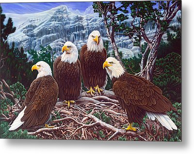 Eagles Metal Print by Larry Taugher