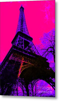 Eiffel 20130115v3 Metal Print by Wingsdomain Art and Photography