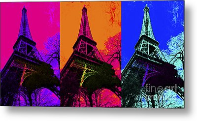 Eiffel Tower Three 20130116 Metal Print by Wingsdomain Art and Photography
