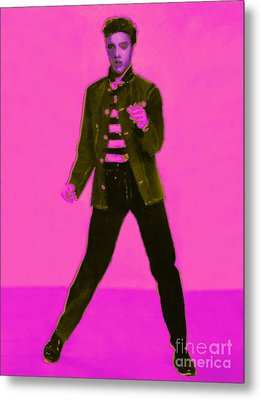 Elvis Is In The House 20130215m88 Metal Print by Wingsdomain Art and Photography