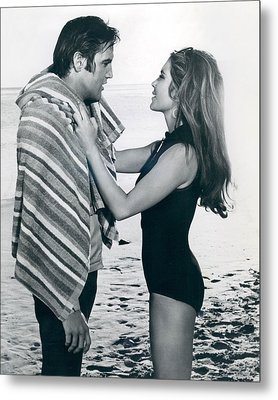 Elvis Presley Getting Dried Off Metal Print by Retro Images Archive