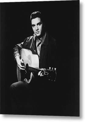 Elvis Presley Playing Guitar Metal Print by Retro Images Archive