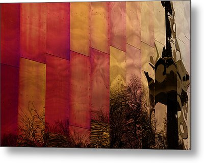 Emp Seattle Reflections  Metal Print by Joanna Madloch