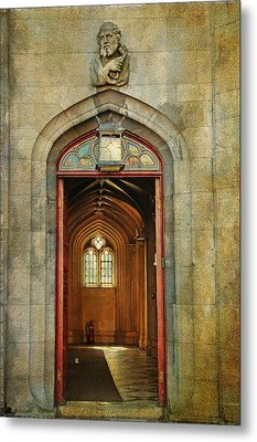 Entrance To The Gothic Revival Chapel. Streets Of Dublin. Painting Collection Metal Print by Jenny Rainbow