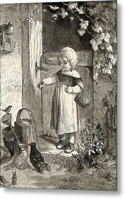 Example Of 19th Century Childrens Book Metal Print by Ken Welsh