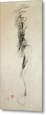 Figurative Gesture Drawing Metal Print by John Arthur Ligda