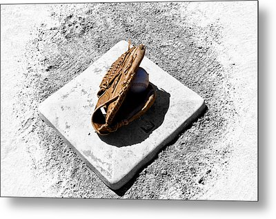 First Base Metal Print by Bill Cannon