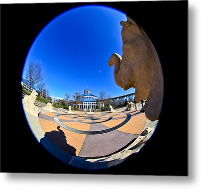 Fish Eye View Of Coolidge Park Metal Print by Tom and Pat Cory