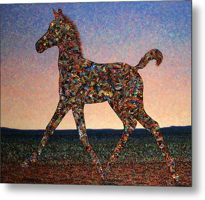 Foal Spirit Metal Print by James W Johnson