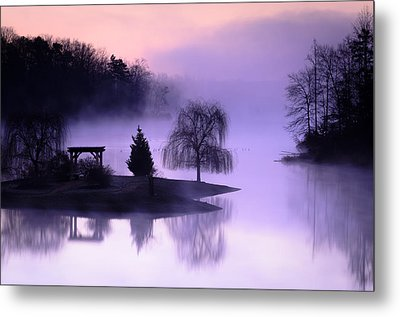 Foggy Twilight Metal Print by Thomas Pettengill