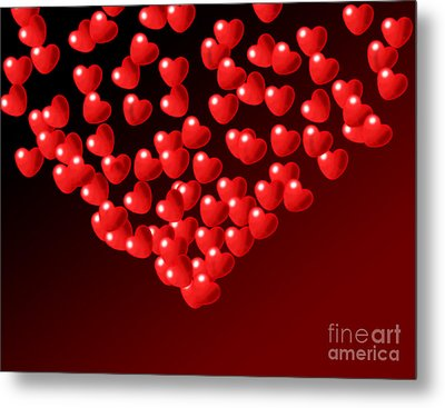 Fountain Of Love Hearts Metal Print by Kiril Stanchev