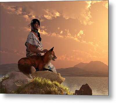 Fox Maiden Metal Print by Daniel Eskridge
