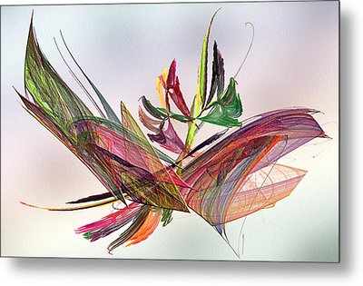 Fractal Butterfly Metal Print by Camille Lopez