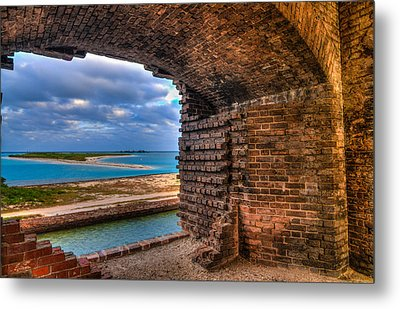 Ft. Jefferson And Its Horizon 2 Metal Print by Andres Leon