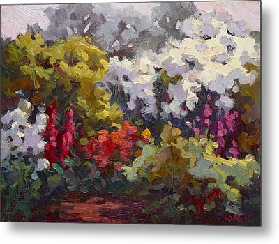 Gamble Gardens Metal Print by Carol Smith Myer