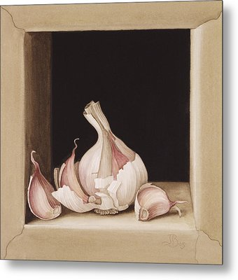 Garlic Metal Print by Jenny Barron
