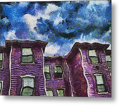 Garret Row Metal Print by Wendy J St Christopher