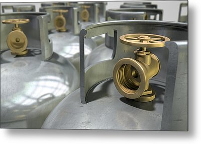 Gas Cylinders Collection Metal Print by Allan Swart