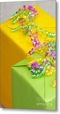 Gifts With Ribbon Metal Print by Amy Cicconi
