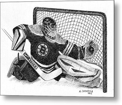 Goalie Metal Print by Al Intindola