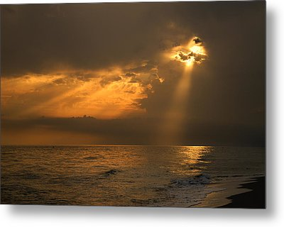 Gold Through The Clouds Metal Print by Guido Montanes Castillo