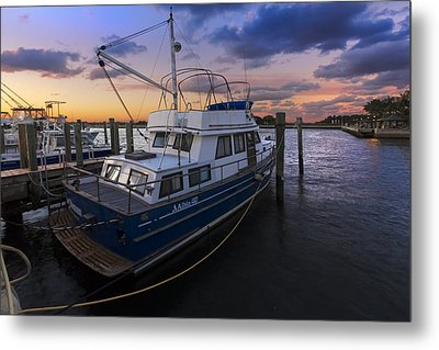 Good Fishing Metal Print by Debra and Dave Vanderlaan