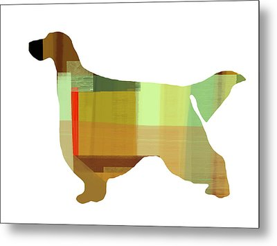 Gordon Setter Metal Print by Naxart Studio