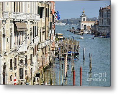 Grand Canal View From Academia Bridge Metal Print by Sami Sarkis