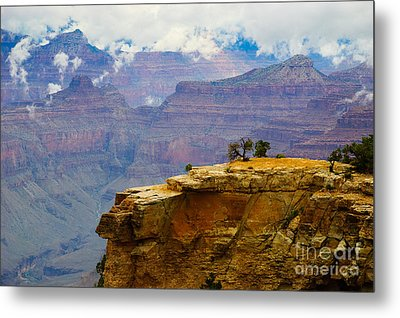 Grand Canyon Clearing Storm Metal Print by Terry Garvin