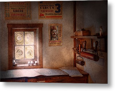 Graphic Artist - The Life Of A Proofer  Metal Print by Mike Savad