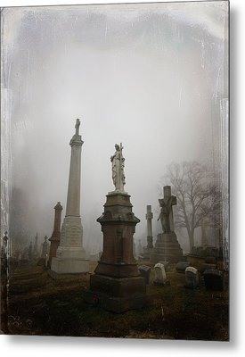 Graveyard Morning Metal Print by Gothicrow Images