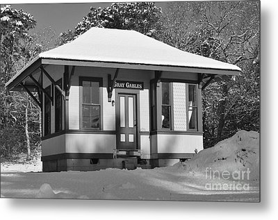 Gray Gables Train Station Metal Print by Catherine Reusch  Daley
