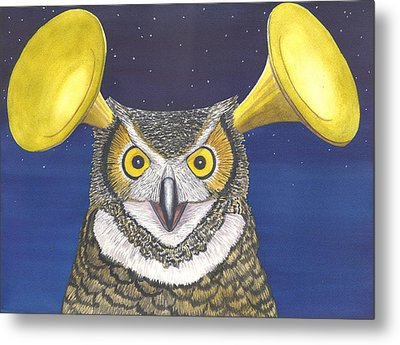 Great Horned Owl Metal Print by Catherine G McElroy