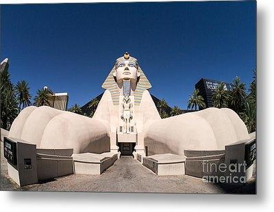 Great Sphinx Of Giza Luxor Resort Las Vegas Metal Print by Edward Fielding
