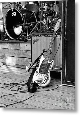 Guitar Realist On Stage Metal Print by Sonja Quintero