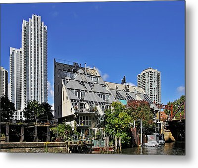 Harry Weese's Chicago River Cottages Metal Print by Christine Till