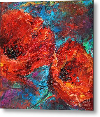 Impressionistic Red Poppies Metal Print by Svetlana Novikova