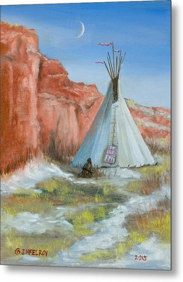 In The Canyon Metal Print by Jerry McElroy